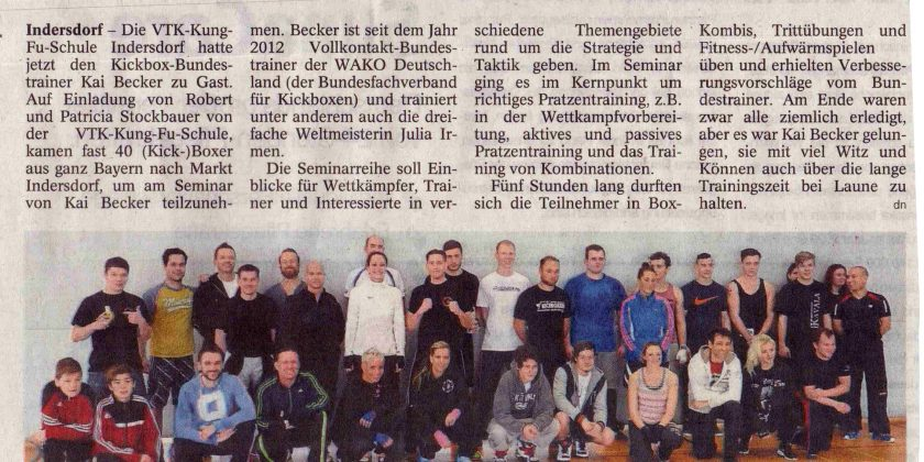Seminar mit Kickbox-Bundestrainer