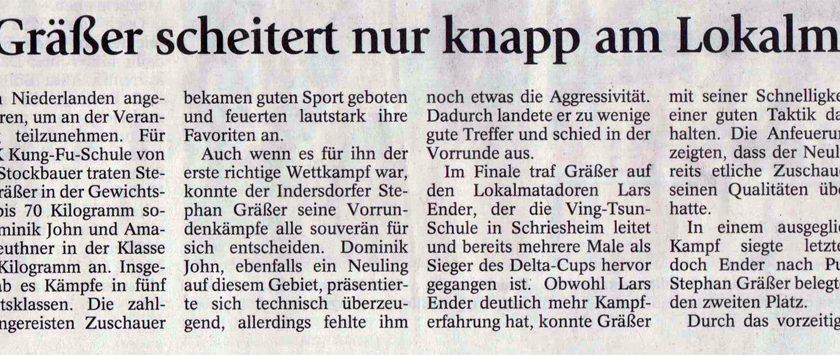 Stephan Gräßer scheitert nur knapp am Lokalmatadoren