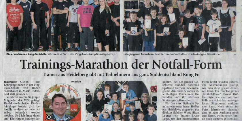 Trainings-Marathon der Notfall Form