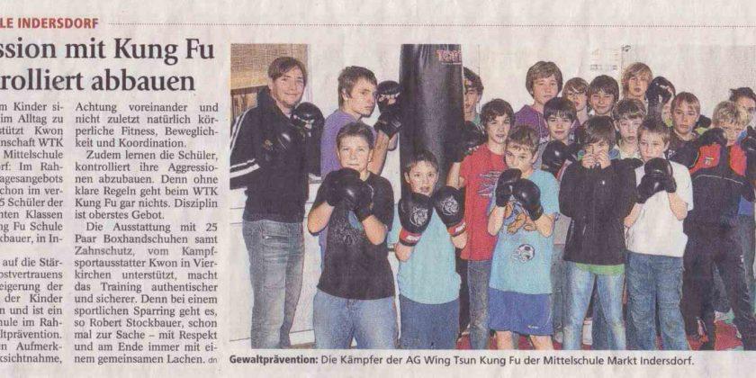 Aggression mit Kung Fu kontrolliert abbauen