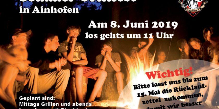 Sommer-Grillfest in Ainhofen am 8.Juni 2019