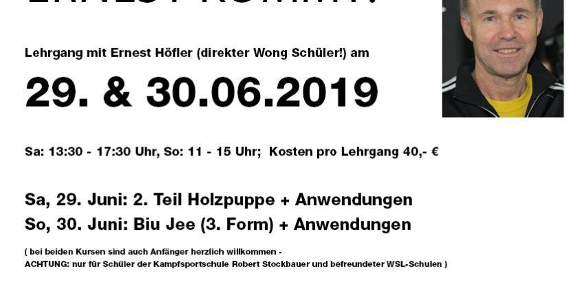 Lehrgang Ernest Höfler 3. Form (Biu Jee)